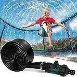 Asolym Kinder-Trampolin-Sprinkler, 8/10/12/15 / 20M Outdoor-Trampolin-Wasserpark-Sprinkler,...