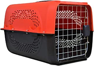 """Pawwfect® Imported Plastic Portable Pet Travel Carrier Cage & Kennel House for Dogs, Puppies & Small Animals (19"""" X 12"""" X ..."""