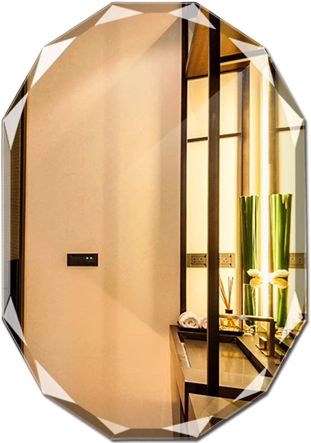 Mirror Wall Hanging Frameless Bathroom mirror Diamond Side Makeup mirror 5mm, 8mm Clear mirror (Size   5  450  600mm)