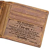 Engraved Bifold Wallet - To My Husband - I Love You. (W04-050-WifHus) Gifts for Men