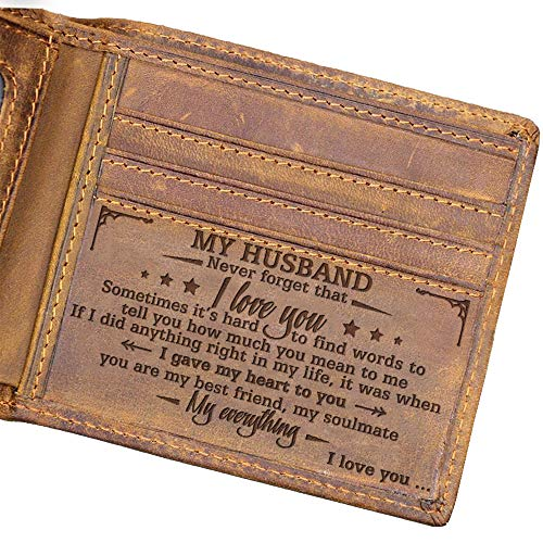 Engraved Bifold Wallet - To My Husband - I Love You. (W04-050-WifHus) Gifts...