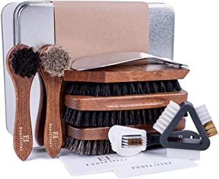 FootFitter Ultimate Shoe Brush Set, 10 Piece, Cleaning and Polishing Tools for Leather and Suede!
