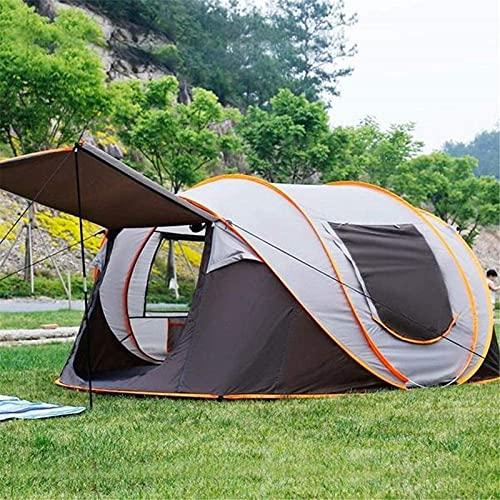 Ankon Carpas de playa para adultos tiendas de campaña para camping tiendas solares para refugios para exteriores Configuración automática de instalación automática para 5-8 persona 3 en 1 Tienda de ca