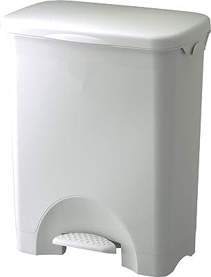 リス ゴミ箱 SABIRO ペダルペール 44L ワイド ホワイト 47.5×31×56.5cm