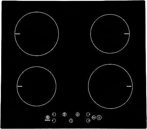 Plaque à Induction intégrable avec 4 Boosters Table de cuisson électrique 4 foyers de cuisson 7600W