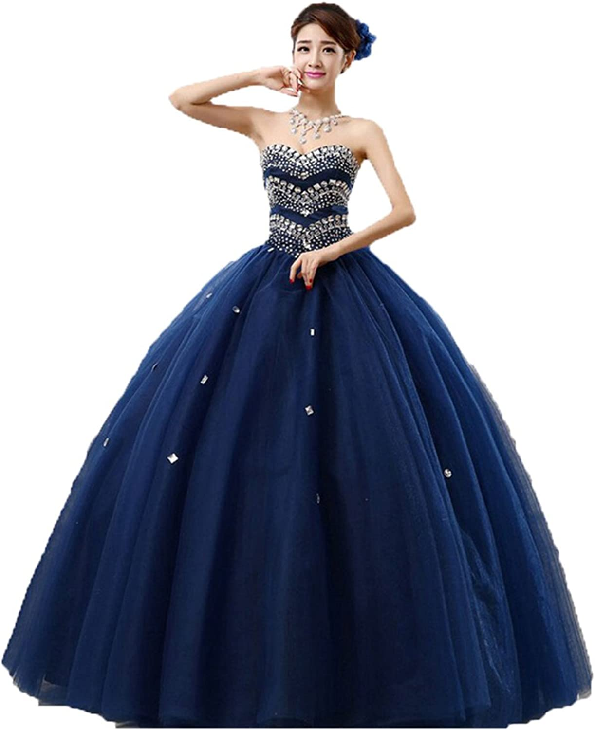 BEALEGAN Lady Women's Ball Gown Crystal Ball Gown Sweet 15 16 Quinceanera Prom Dress