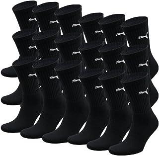 - nero Cotone PUMA Unisex Crew Calzini calzini Calzini da sport CON SUOLA 18 Pacco Unisex 39-42