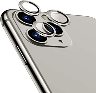 TAMOWA Protector Cámara para iPhone 11 Pro/iPhone Pro MAX Protector de Lente de cámara de Anillo Protector Metálico de Vidrio Templado para iPhone 11 Pro/iPhone 11 Pro MAX Plata