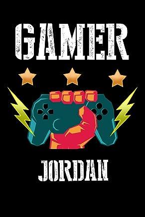 Gamer Jordan: Kariertes Notizbuch mit 5x5 Karomuster für deinen personalisierten Vornamen