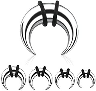 Septum Pincher Half Moon with O-Rings (316L) Surgical Steel 1 Piece