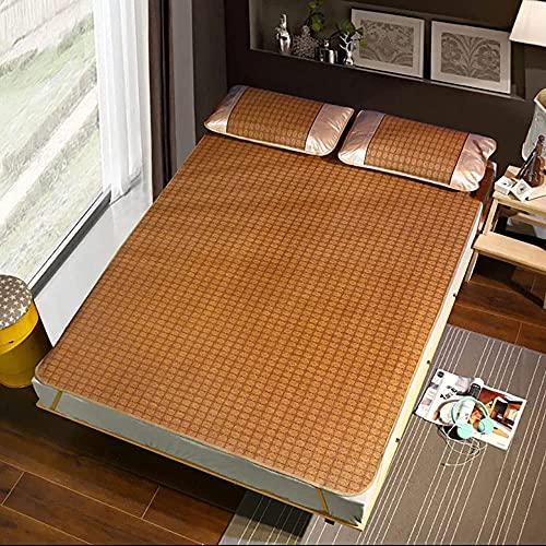 NCHEOI Cama de Estera de bambú, Estera para Dormir de Verano Fresco colchón de ratán Plegable y Lavable Ropa de Cama de Verano Duradera (Size : 80×195 cm (31.5×76.8 Inches))