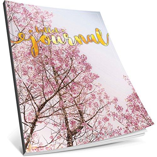 Dékokind® Bullet Journal: Ca. A4-Format • 100 Seiten, Punktraster Notizbuch mit Register • Dotted Grid Notebook, Punktkariertes Papier, Zeichenbuch • ArtNr. 26 Frühlingsaft • Vintage Softcover