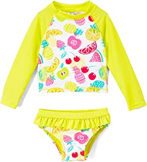 ad4cb9847d INGEAR Toddlers   Baby Girls Swimsuit Two-Piece Tankini Rash Guard Set UPF  50+