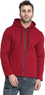 CHKOKKO Winter wear Cotton Full Sleeve Hooded Sweatshirt Tshirt for Mens with Pocket
