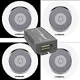 Lyndahl Lautsprecher-Set, Bluetooth 4-Kanal Verstärker CS200BT-AMP und 2-Wege Lautsprecherpaar CS120AL, mit 2 oder 4 Einbaulautsprechern Deckenlautsprecher mit 4 Lautsprechern