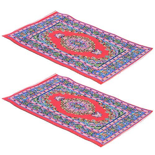 TOYANDONA 1:12 Mini turkisk matta dockhus matta kreativ dockhus dekorativ matta leksak möbler