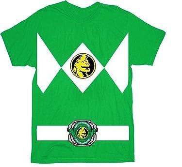 Power Rangers The Green Rangers Costume T-Shirt Tee