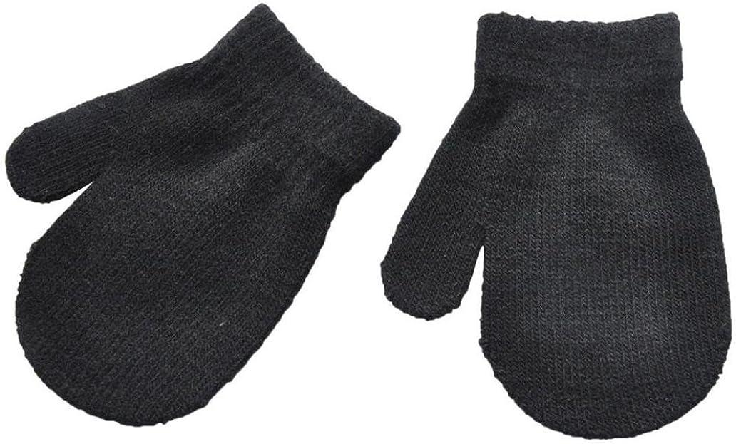 Babyhandschuhe Winter Handschuhe F/äustlinge Baby Cartoon Fausthandschuh Halshandschuhe Strickhandschuh mit Pl/üsch f/ür 1-4 Jahre Kinder