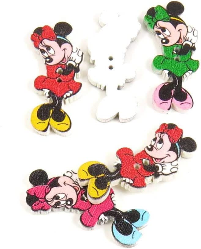 Super special price Price per 260 Pieces Sewing Sew Minnie for Omaha Mall ANMD0 Shy On Buttons