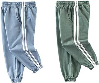 Lubooent Boys Sweatpants 2 Pack Active Jogger Sweat Pant 2T- 7
