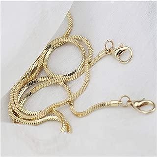 Xiazw Small Square Copper Purse Shoulder Cross Body Handbag Bag Chain Strap Replacement(Gold, 47'')
