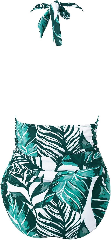 CUPSHE Women's One Piece Swimsuit Halter Tummy Control Multiway Swimwear Bathing Suits