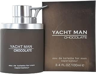 acht Man Eau de Toilette Spray para Los Hombres, Chocolate, 3,4 onza