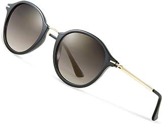 Elegear Women's Sunglasses Retro Gradient Glass Sunglasses Vintage Retro Collection 100% UV400 Protection with Impressive Colour Enhancement Clarity and Comfort