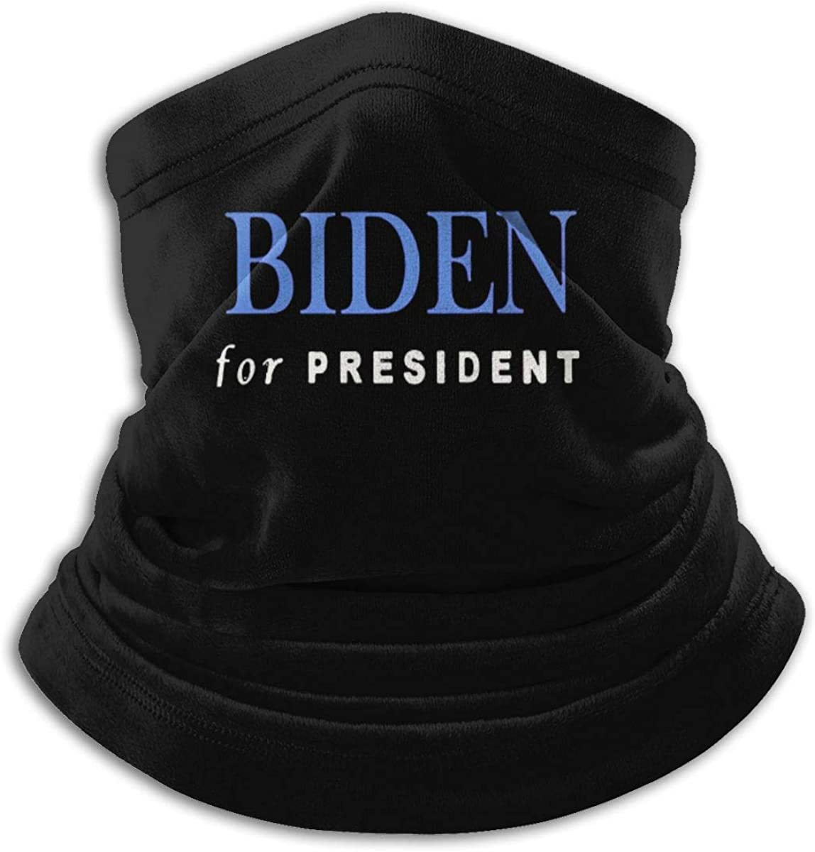 Joe Biden For President Black Multi-function Neck Warmer Gaiter Polyester Neck Warmer Windproof Winter Neck Gaiter Cold Weather Scarf For Men Women