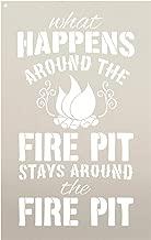 Fire Pit - Word Art Stencil - STCL1891 - by StudioR12 (10