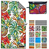 ECCOSOPHY Microfiber Beach Towel - Quick Dry Pool Towels 71x35 inches Oversized Travel Towel - Lightweight Compact Beach Accessories - Large Sand Free Micro Fiber Beach Towels (Honolulu)