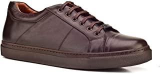 Cabani Bağcıklı Sneaker Erkek Ayakkabı Kahve Deri