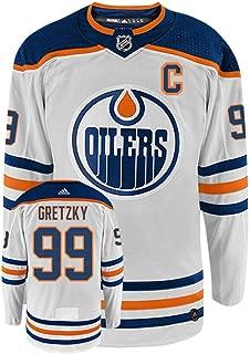 Adidas NHL Wayne Gretzky Edmonton Oilers Heroes Hockey White Authentic Vintage Jersey