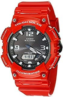 Casio AQ-S810W-4AV Analog Digital Tough Solar Powered Watch (Red)