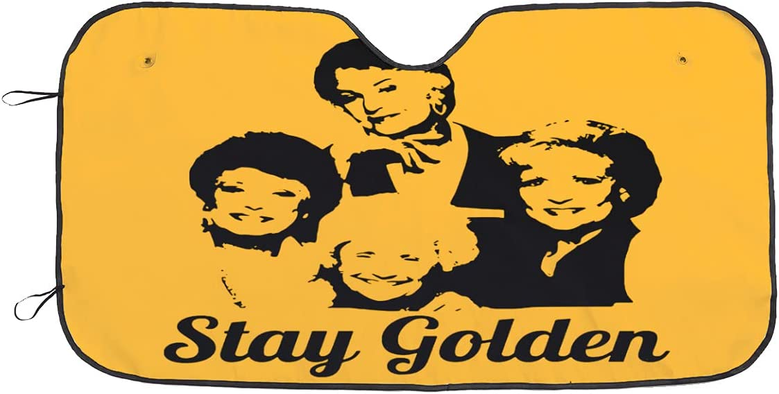 67% OFF of fixed price Feyuan NEW before selling Stay Golden Girls S Front Sunshade-Auto Windshield