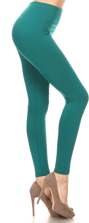 Leggings Depot Women's High Waisted Warm Fleece Lined Leggings Tights Pants