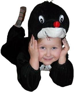 Maulwurf Kostüm-e Kind-er, An47 Gr. 98-104, Maulwurf-Kostüme Maulwürfe, Fasching Karneval, Kleinkinder-Karnevalskostüme, Kinder-Faschingskostüme, Geburtstags- Weihnachts-Geschenk