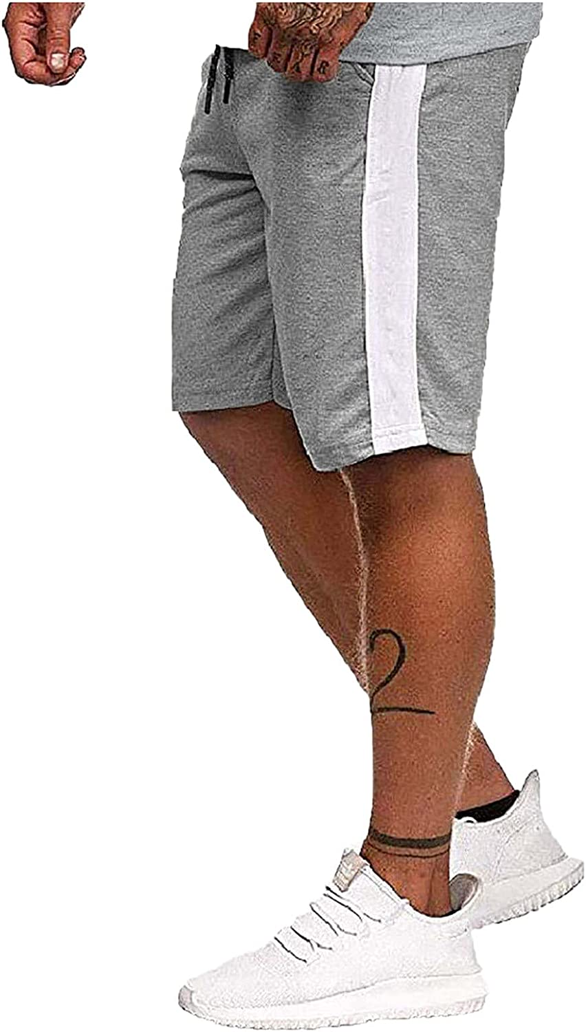 Bisitoy Mens Shorts Casual Solid Resilience Tooling Shorts Relaxed Fit Summer Daily Cargo Shorts with Pockets