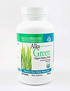 Alka-Green Tablets (6 Pack) Organic Barley Grass & Naturally Chelated Colloidal Minerals & Enzymes for Improved Digestion,...