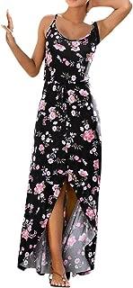 OXUO Stampa Floreale Gilet Senza Maniche Abiti per la Famiglia Madre e Figlia Abiti Estivi Senza Maniche Corti Vestito Principessa Bambina//Vestiti Donna Eleganti