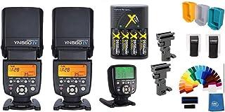 Yongnuo YN-560IV 2PCS Wireless Flash Speedlite Pro Kit, YN560-TX II Trigger Controller for Sony DSLR Cameras, Battery, Umb...