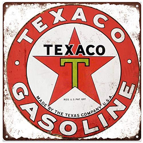 Yohoba Texaco Benzine Metalen bord Ad Repro Gas Pomp Garage Winkel 12x12