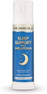 Dr. Mercola, Melatonin Sleep Support Spray, 0.85 FL. oz (25 mL), (32 Servings), Supports Feelings of Sleepiness, Non GMO, ...