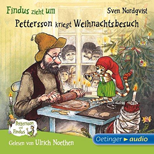 Findus zieht um / Pettersson kriegt Weihnachtsbesuch (Pettersson und Findus) audiobook cover art
