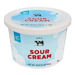 Amazon Brand - Happy Belly Sour Cream, Kosher, 16 Ounces