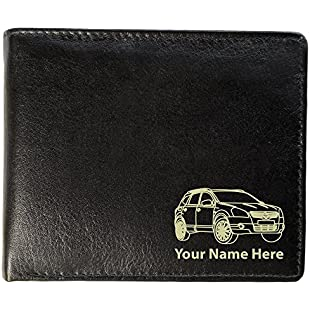Nissan Qashqai Design, Personalised Mens Leather Wallet (Toscana Style)