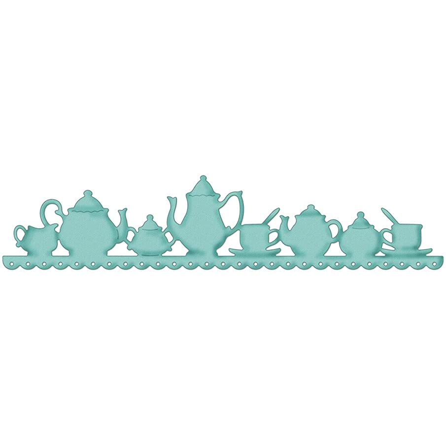 CottageCutz BR07003 Border Die with Foam, 1 by 7-Inch, Tea Time