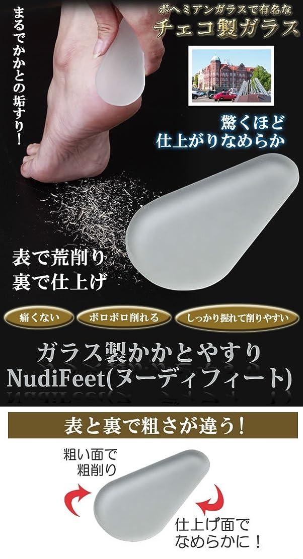 毎回医薬品ジュラシックパークガラス製かかとやすり NudiFeet