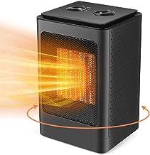VIY Calefactor Eléctrico PTC, Calefactor de Aire Caliente, con Ahorro de energía de Alta Tecnología y 60° Oscilación Automática y 3 Configuraciones de Temperatura, 10W/750W/1500W (Negro)