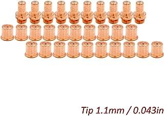 Plasma Electrode Tip Kit for Eastwood Versa-Cut 60amp Cutter Trafimet CB70 Torch Consumables 30pcs